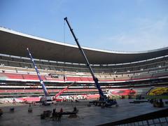 Tercer día de montaje - Estadio Azteca 19