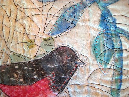 Pink belly bird ~ detail