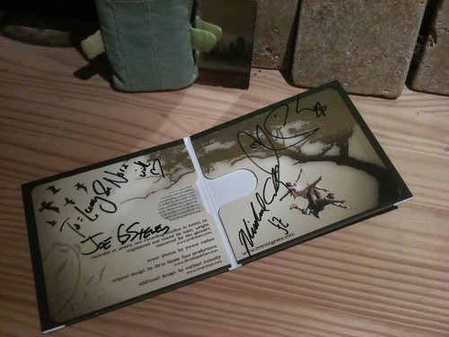 "Our signed ""Coyote Grace"" CD"