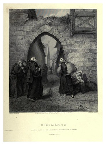 005-La humillacion-Illustrations of the life of Martin Luther 1862- Pierre Antoine Labouchère
