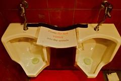 Shanghai May 2011 (Remko Tanis) Tags: china public bar night shanghai dive announcement urinals vomit psa serivce