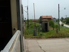 Eher ungesicherter Bahnübergang