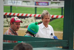 2011-05-19 (73) r7 Xavier Perez discusses the race with owner / trainer Patrick Magill