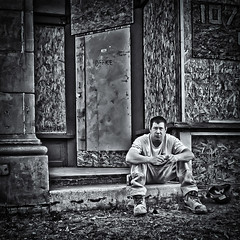 147/365 (Ian McKenzie) Tags: street blackandwhite construction downtown edmonton streetphotography lightroom lumixlx3 topazadjust ianmckenziephotography silverefexpro2