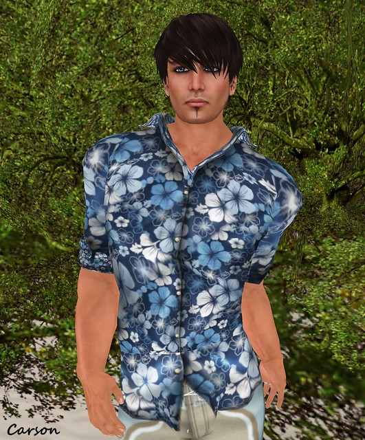 SHIKI-Hawaiian Shirt KAUAI blue
