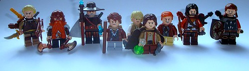Custom minifig Fellowship of the Ring
