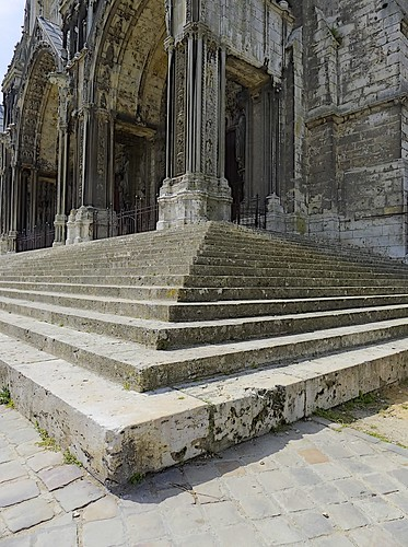 Steps, North Door Chartres Cathederal