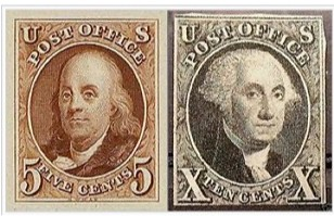 1st us postage stamps