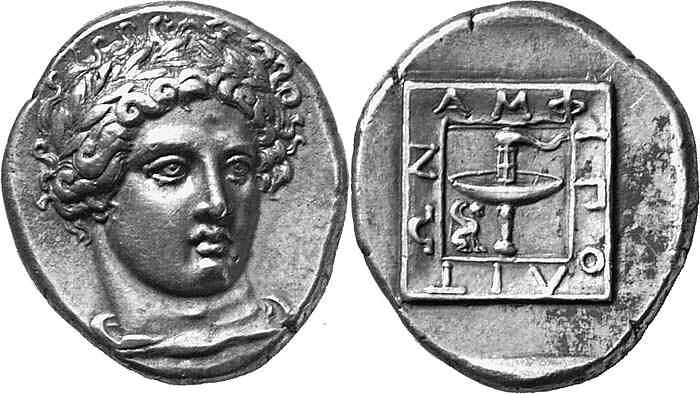 A Magnificent, Excessively Rare, and Highly Important Greek Silver Tetradrachm of Amphipolis (Macedon), Among the Finest of All Greek Coins Extant, a Masterpiece of Late Classical Art