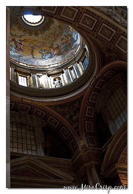 A detail inside St. Peter's Cathedral in Vatican