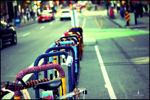 bike lane knit graffiti