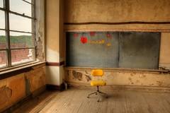 no one to learn (hmb52) Tags: school abandoned classroom pennsylvania rusty urbanexploration slate shenandoah flaking derelict blackboard crusty deserted postindustrial urbex miningtown anthracite coalregion jwcooperschool homeofjimmyandtommydorsey