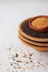 Sarson Daana (Mustard Seeds) (tarunadeepak) Tags: indiancuisine sarson indianspices blackmustardseeds yellowmustardseeds indiancondiments