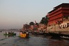 Varanasi,The Ganges riverside at sunrise (Heaven`s Gate (John)) Tags: india art water architecture sunrise river boats atmosphere varanasi ganges cremation 10faves johndalkin heavensgatejohn