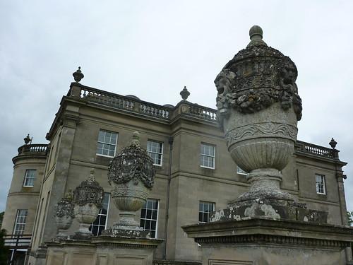 Ornamental urns, Manderston's garden