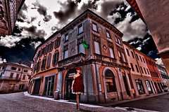 Stroll after dance party (Marco Trov) Tags: marcotrov hdr canoneos5d vigevano pavia italia italy city citt strade street case house palazzi building