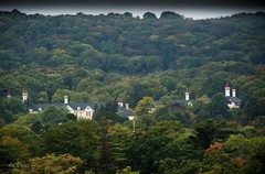 View from the top . . . (Dr. Farnsworth) Tags: parkplace hotel top floor statehospital commons spires trees building50 traversecity mi michigan fall october2016