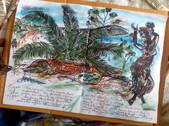 Timor and the Tiger - from the Garden of Bali - by Keith Hansen circa 1972 (keiths artwork) Tags: artists diaries by keith hansen international artist