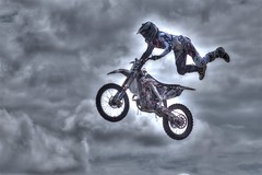 Flying High (Malc H) Tags: calgary calgarystampede canada extremebiking motocross stuntbiking