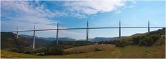 Millau bridge, S.France (Pitheadgear) Tags: france southfrance normanfoster bridge bridges viaduct viaducts millauviaduct suspensionbridges engineering concrete civilengineering millau