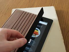 Walnut iPad cover by Miniot