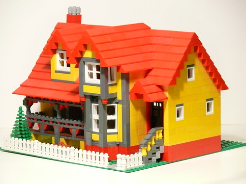 simple lego house instructions