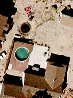 Aerial backyard before we bought it