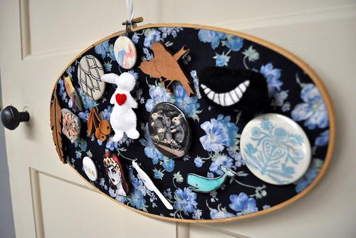 Embroidery Hoop Brooch Holder
