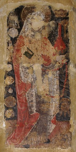 Medieval Wall Painting of Saint Zita