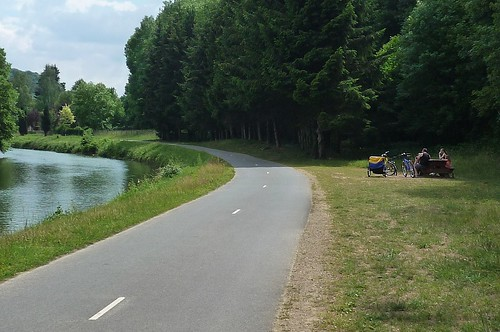 You're never far from a picnic spot on the Trans-Ardennes bike path. Photo: Gerry Patterson