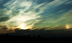 Sunset (Rychu92) Tags: blue sunset sky clouds sony dslr zachd soca chmury niebo sonyalphadslra290 a290l