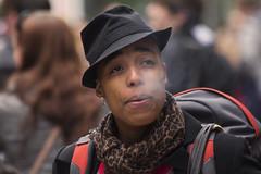 Smoke signals (On Explore) (Frank Fullard) Tags: street ireland portrait dublin hat scarf cool candid smoke dude explore casual smoker urbanjungle signal graftonstreet porkpie onexplore explored fullard frankfullard connscameras