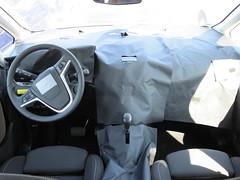 Getarnter Innenraum eines Opel Astra