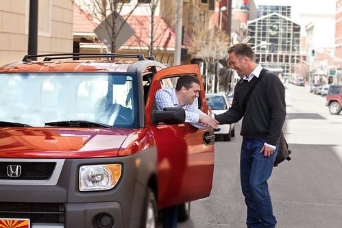 Zebigo CEO Mark Russell ridesharing in Seattle.