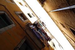 Girona atmosphere (marin.tomic) Tags: street city travel architecture spain alley nikon europe balcony vertigo atmosphere catalonia girona espana spanish catalunya spanien cataluna katalonien d40