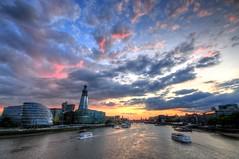 Summer sunset over the Thames