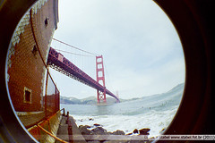 SF - Golden Gate 3 (Luciano Stabel) Tags: sf sanfrancisco california goldengatepark usa lomo lomography fisheye goldengate bayarea brige estadosunidos