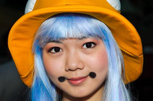 street costumes girls portrait anime portraits losangeles eyes cosplay wig dtla lacc laconvention colorhair animeportrait animefaces animeexpo2011