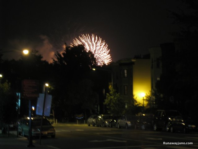 Fireworks from afar