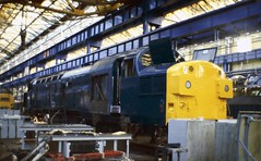 37062 BREL Crewe Works 121080 (24082CH) Tags: crewe works brel class37 37062