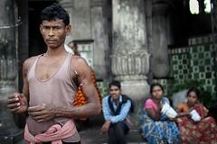 Calcutta (fredcan) Tags: travel people india man standing sitting worker indians kolkata calcutta westbengal mullikghat fredcan