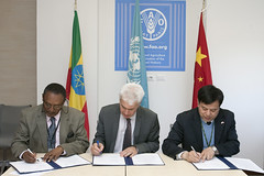12023h9785 (FAO News) Tags: china italy rome europe ethiopia agreements signingceremony southsouthcooperationssc technicalcooperationprogrammetcp assistantdirectorgeneraladg