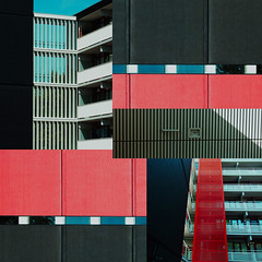 color planes (henk hessel photography) Tags: light shadow lines collage pattern repetition appartmentbuildings bestcapturesaoi elitegalleryaoi ringexcellence