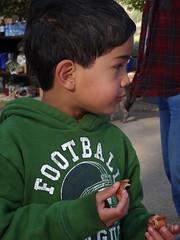 sam at bfast (maureenld) Tags: camping friends fun 40th bash sam may db annual pinnacles 2012 pinnaclesnationalmonument bethereorbesquare desertbash btobs