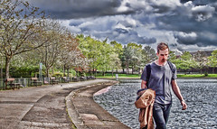 A Walk in the Park (FotoFling Scotland) Tags: lake male beard victoriapark glasgow