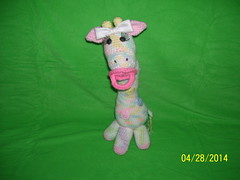 Anne Riley, meet Pastel (The Crochet Crowd) Tags: mikey giraffe redheart crochettoy mysteryadventure freeamigurumipattern mysterycrochetalong thecrochetcrowd michaelsellick freeonlinetutorial thecrochetcrowdcrochetalong freegiraffecrochetpattern freecrochetvideo