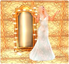 Kenningston Market - M&M Incorporated (Carolyn Gown - Aqua Floral) & Myrrine (Vintage Mirror wth Lights - Bronze)