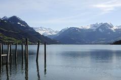sarnen (adlin) Tags: snow mountains alps water switzerland peaks centralswitzerland lakesarnen
