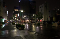 Nagashimacho-Dori, Fushimi, Nagoya (kinpi3) Tags: street japan night rainy nagoya gr ricoh marunouchi fushimi