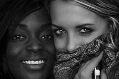 Anna e Giulia (el_mo) Tags: girls blackandwhite anna black eyes wine blonde museo vino giulia barolo langhe nebbiolo wimu